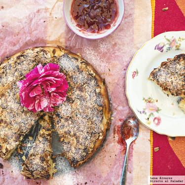 Tarta de almendra, queso ricotta y limón, receta sin gluten para una celebración