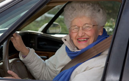 Conductora feliz