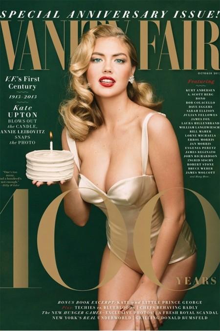 """Kate Upton es Marilyn Monroe para celebrar el """"centenario"""" de Vanity Fair"""