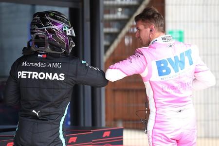 Hamilton Hulkenberg Silverstone F1 2020