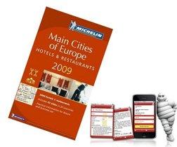 Guía Michelín Europa 2009 en el Iphone