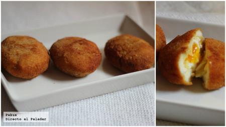 Jugosos huevos fritos a la villaroy. Receta