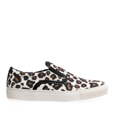 Zapatillas leopardo Celine clon sneakers slip ons Mother of Pearl