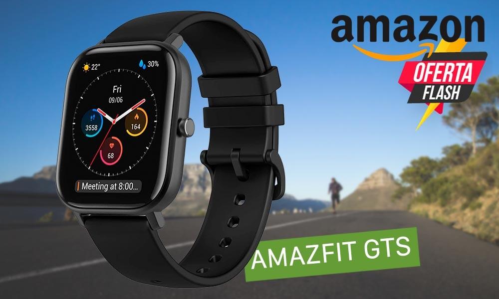 Hasta la medianoche, tienes en oferta flash en Amazon la autonomía bestial del Amazfit GTS por sólo 102 euros