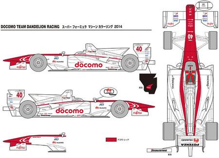 Docomo Team Dandelion Racing presenta su decoración para la Super Fórmula 2014