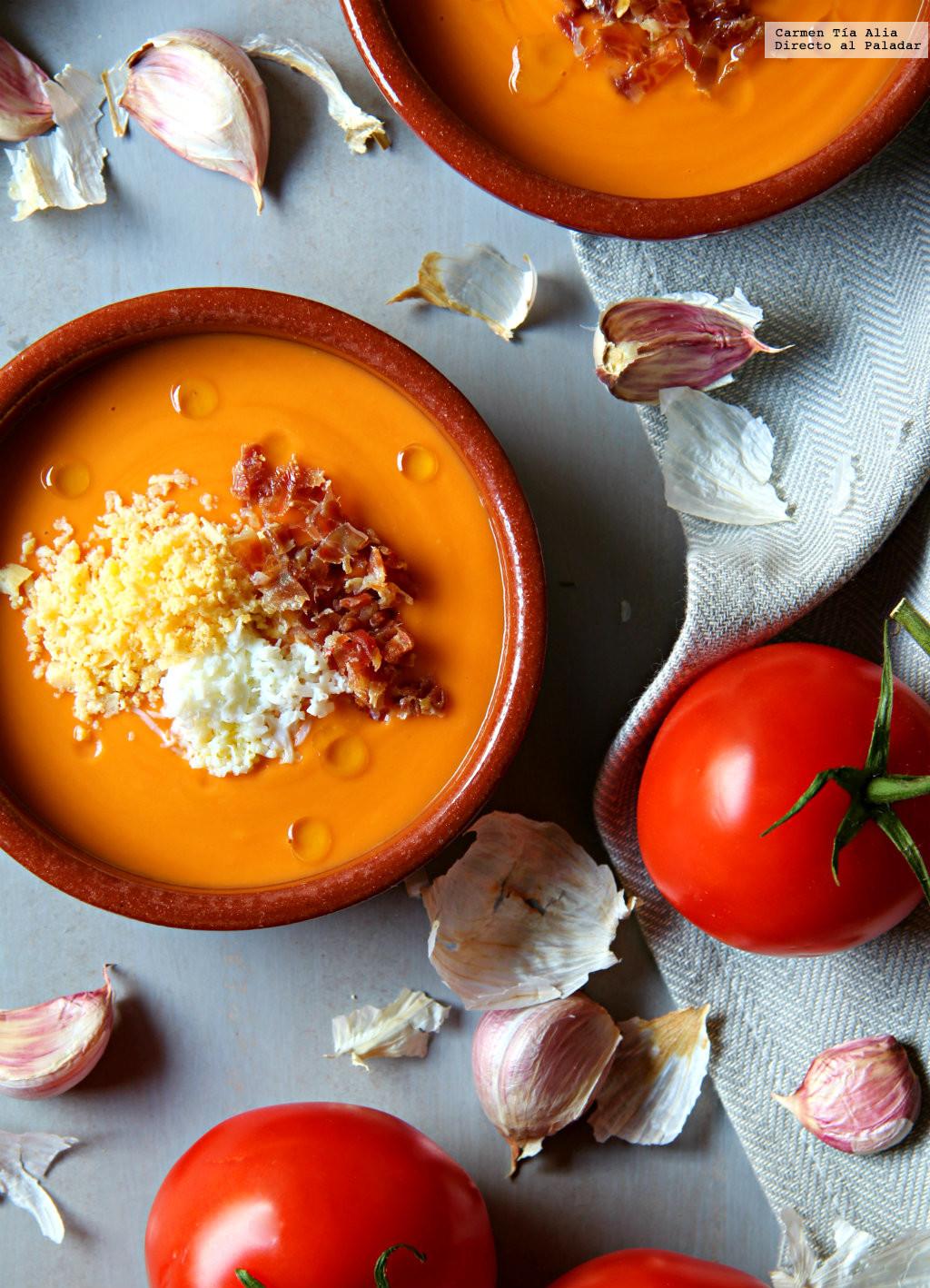 receta salmorejo andaluz casero