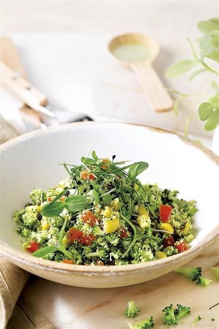 Cus cus de brócoli al curry. Receta vegana fácil y deliciosa