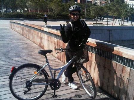 chenoa ciclista