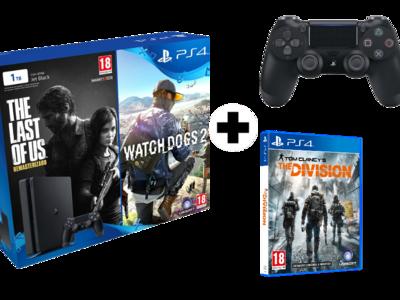 Oferta loca: PlayStation 4 de 1TB + 3 juegos + mando adicional por 299 euros