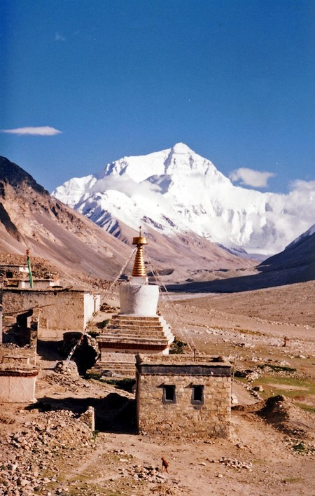 Mount Everest From Rombok Gompa Tibet