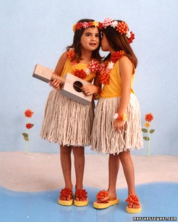 Disfraz de hawaiana.