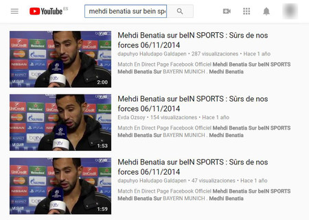 Captura Benatia Youtube 2014