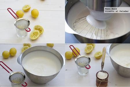 mousse de limón paso a paso