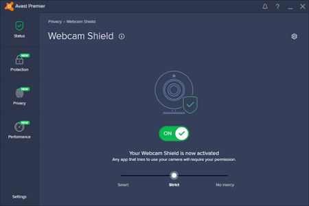 Webcam Shield On Strict Setting
