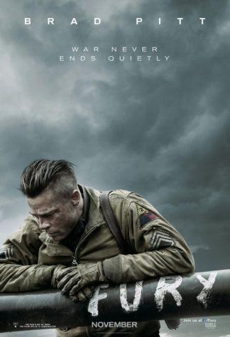'Fury', cartel de la nueva incursión bélica de Brad Pitt