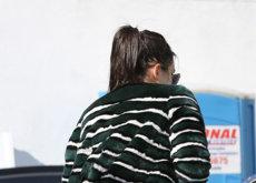 El detalle golfo de los leggins de lycra transparentes de Kendall Jenner para la circulación en Melrose Place
