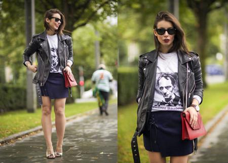 BLK DNM Cazadoras de cuero look blogger