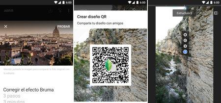Snapseed 2.16 para Android: ahora con tutoriales, compartir diseño QR y más novedades