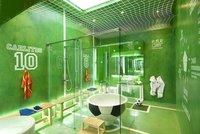 Convierte el cuarto de baño en un campo de fútbol