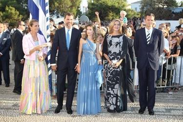El look de la Princesa Letizia en la boda de Nicolás de Grecia