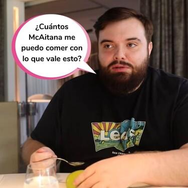 """Ibai Llanos desvela cuánto se ha gastado en el restaurante de Jordi Cruz: """"La comida más cara, con diferencia, que he pagado en mi vida"""""""