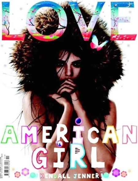 Tenemos Kendall Jenner para rato, y la nueva portada de Love así lo muestra