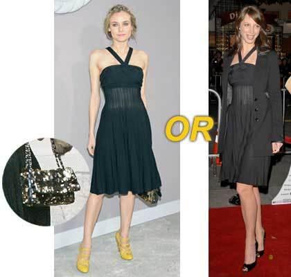Vestido de Chanel: ¿Diane o Christy?