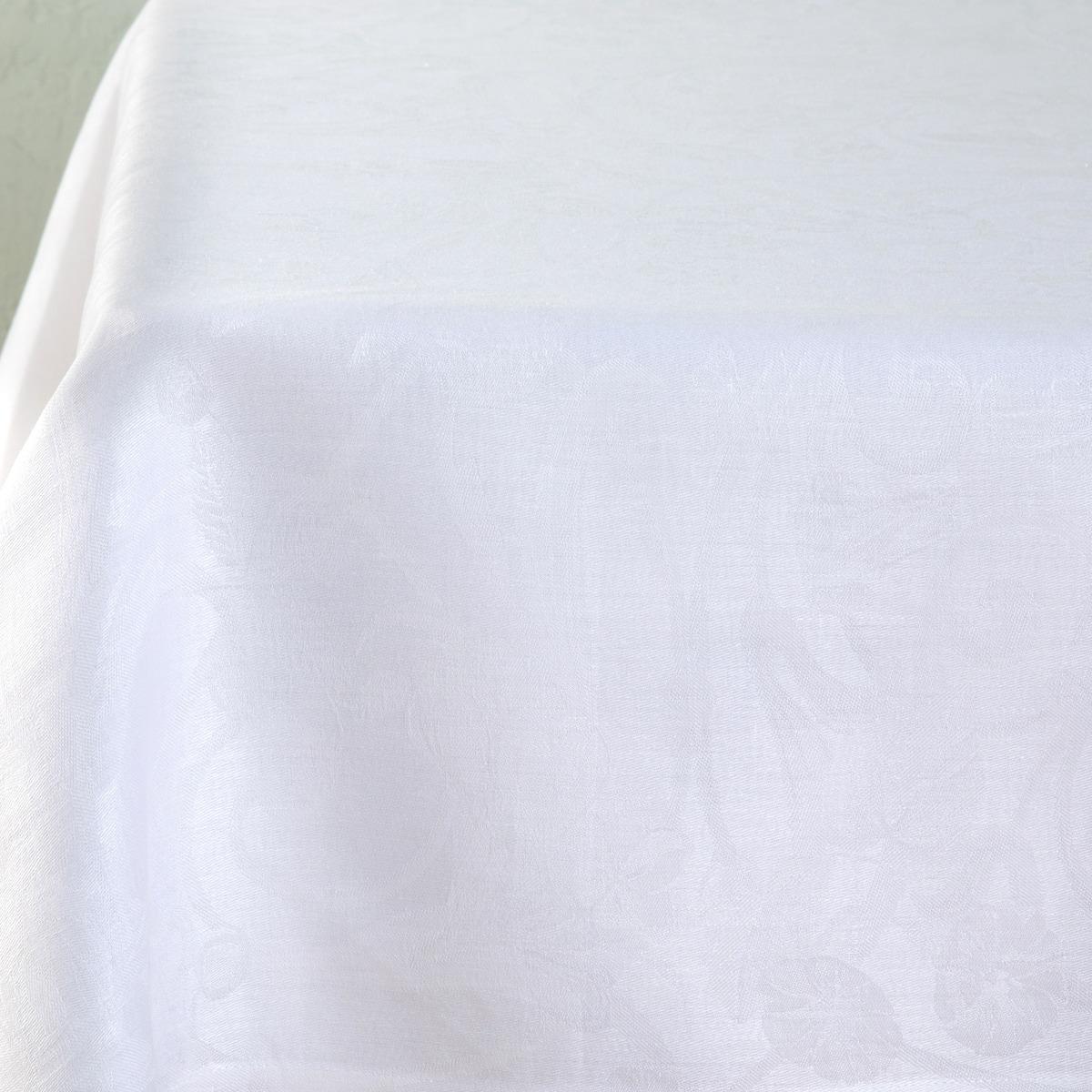 Mantel de lino blanco
