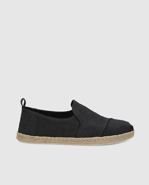 Alpargatas de hombre Toms de tejido en color negro