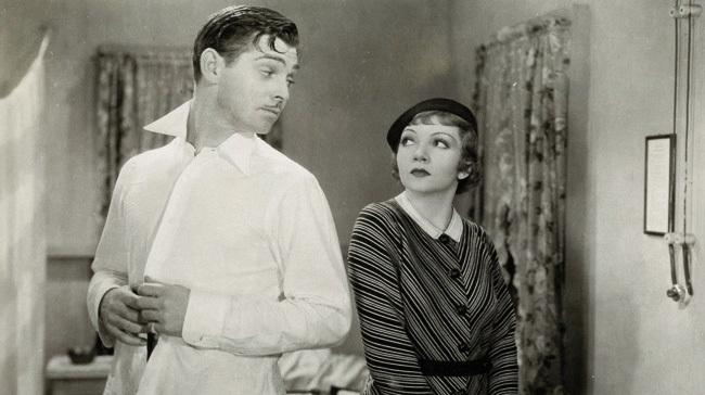 Clark Gable y Claudette Colbert en 'Sucedió una noche'