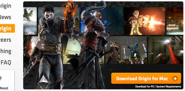 Origin de EA