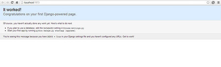 Django en Visual Studio 2012, It worked