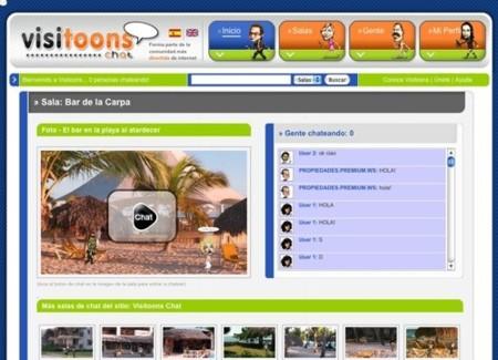 Visitoonschat, salas de chat para comunicarse con avatares animados