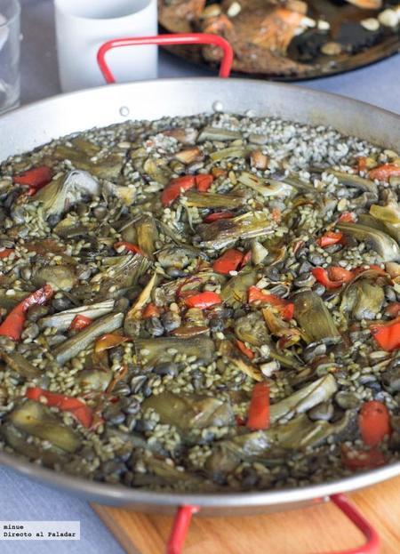 La receta de paella de verduras de mi padre