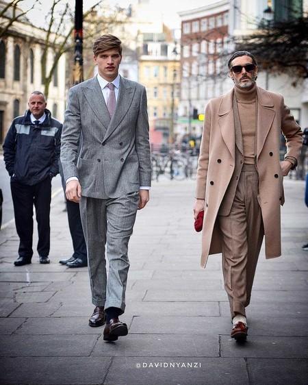 Los Hombres Mas Elegantes De Londres Le Hacen Frente Al Frio Con La Armadura Perfecta El Abrigo 02