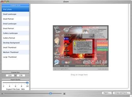 iZoom, redimensionando imágenes desde el escritorio