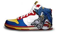 Impresionantes zapatillas pintadas con personajes de videojuegos