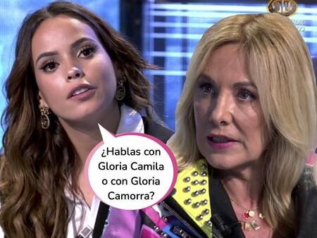 """Belén Rodríguez le da el repaso de su vida a Gloria Camila en 'Conexión Honduras': """"Si te pusieras en el lugar de tu hermana Rocío Carrasco, la gente te entendería"""""""