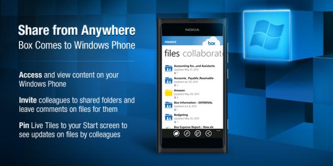Box llega a Windows Phone