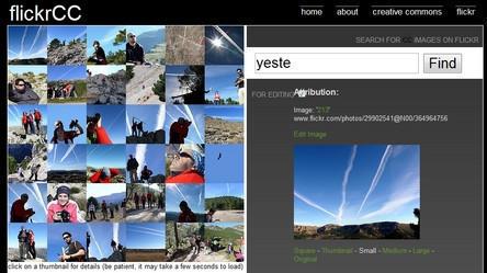 Flickrcc, para buscar fotografías CC