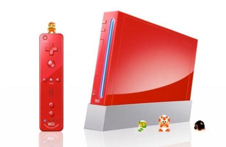 La Wii roja en honor a Super Mario