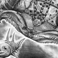 Se identifica en un museo un gusano gigante de grandes mandíbulas