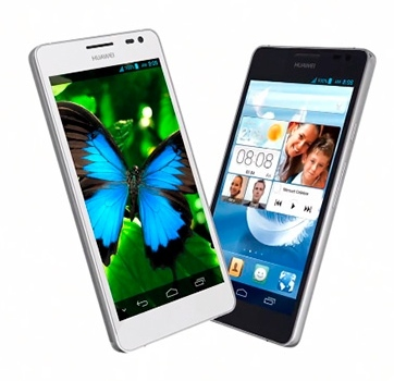 Huawei Ascend D2 en dos colores