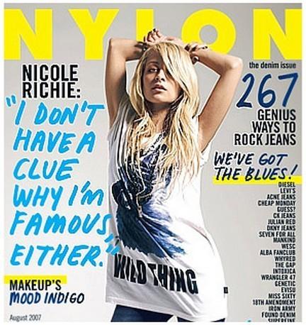 Nicole Richie portada de Nylon