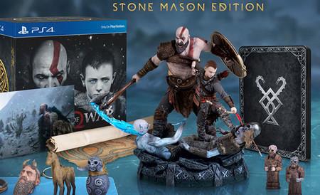 Si eres fan de God of War, tienes que echarle un ojo a la suculenta Stone Mason Edition