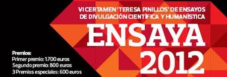 Ensaya'12: abierta la convocatoria del VI certamen «Teresa Pinillos»