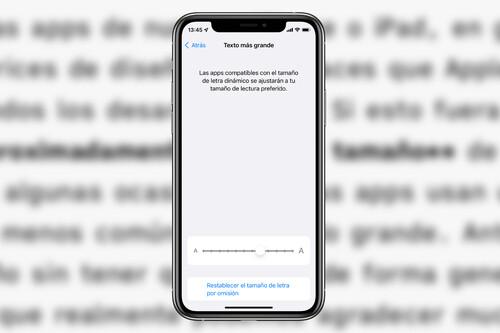 Cómo podemos ajustar individualmente el tamaño del texto de las apps de nuestro iPhone o iPad en iOS 15