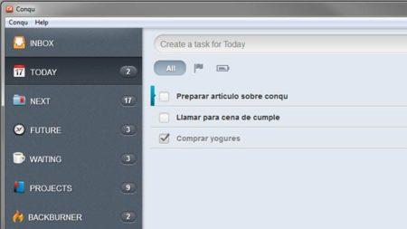 Carpeta today (hoy) en Conqu
