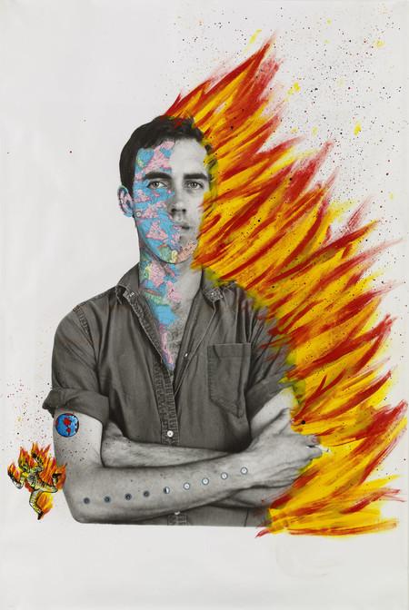Large Portrait Self Portrait Of David Wojnarowicz