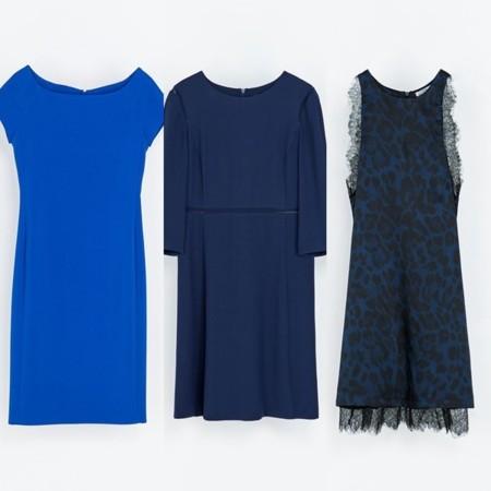 Imagenes de vestidos de noche azul electrico